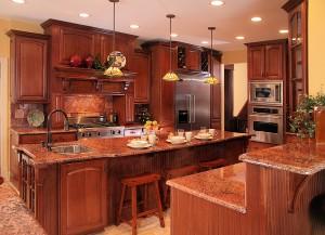 interior55 kitchen dark wood