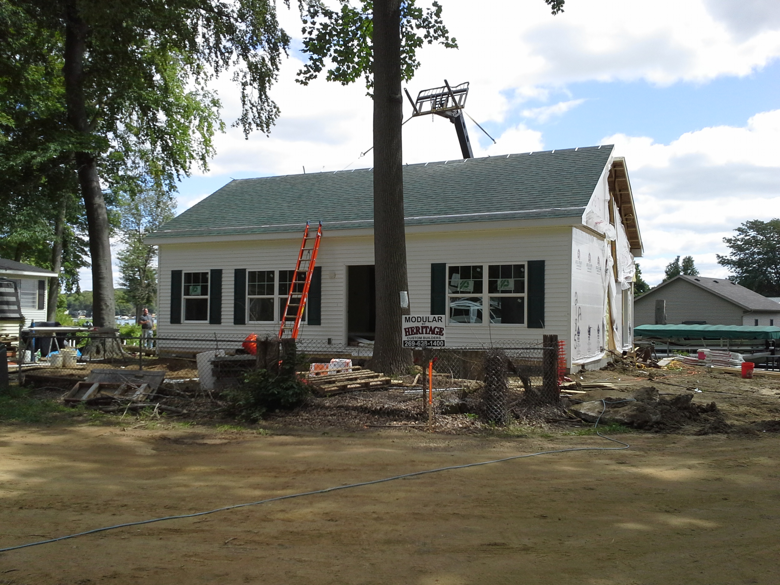 Setting home on diamond island custom system built for Southwest michigan home builders