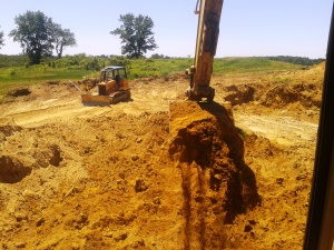 view from excavator