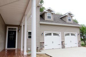 Custom Garage and Porch
